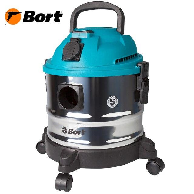 Пылесос универсальный Bort BSS-1015 (вместимость пылесборника 15л., для сухой и влажной уборки, Мощность 1250 Вт. сила всасывания 285 Bт, возможность подключения электроинструмента, функция выдува и сбора жидкости )