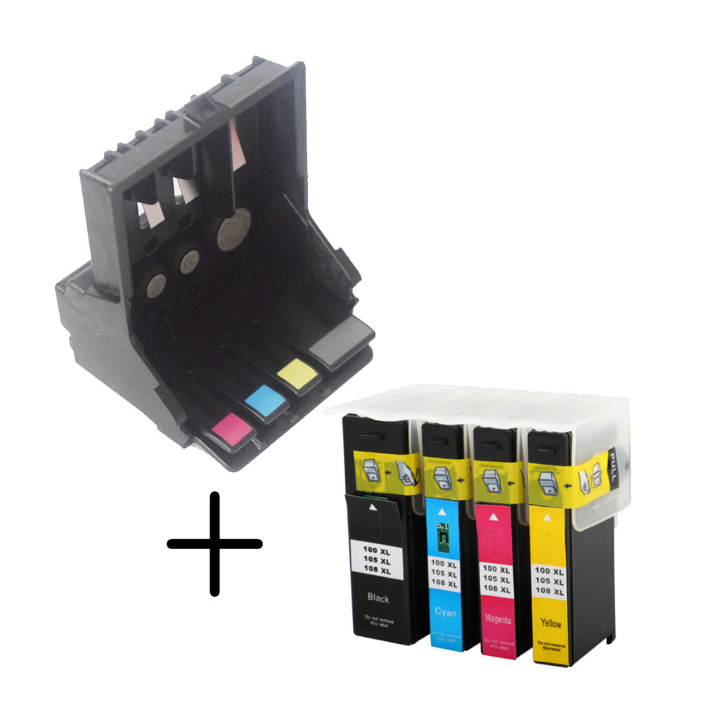 1x 14N1339 Printhead + ink cartridge Compatible for Lexmark 100 Series Pro205 Pro208 Pro209 Pro705 Pro708 Pro715 Pro901 Pro905 used 100% tested ut38e