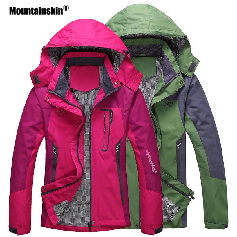 Mountainskin Men Women Spring Autumn Outdoor Hiking Jackets Waterproof Windbreaker Climbing Camping Trekking Rain Coat VA301