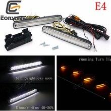 Eonstime 12V автомобильные фары  дневного света 36LED Streamer сигнальные поворотные лампы мощностью 14W E4 водонепроницаемый спортивный ходовой свет