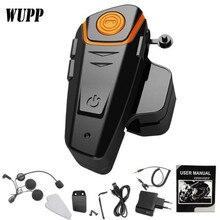 WUPP BT-S2 Motorcycle Helmet Bluetooth Headset Intercom Auto Answer Motorbike HeadPhone Interphone Speaker With FM Radio 1000M