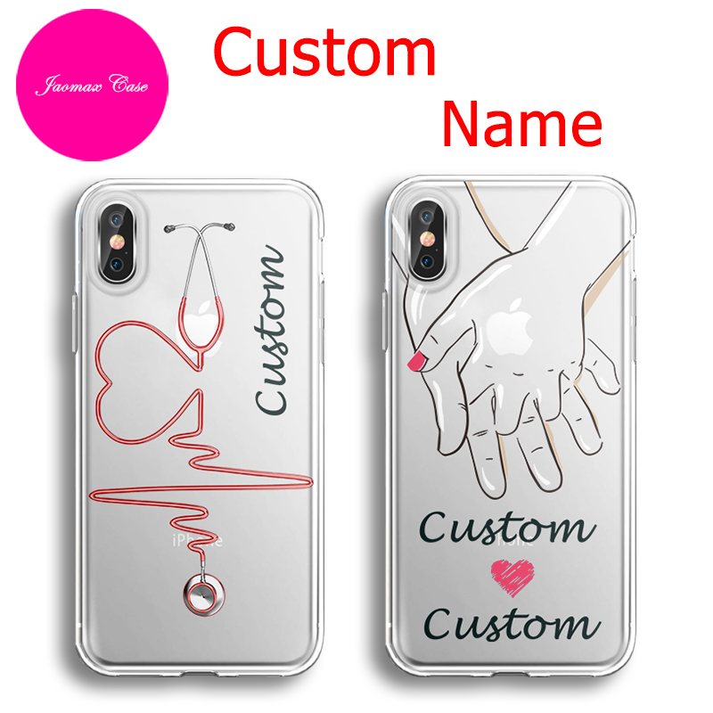 Jaomax heart couple personalized diy name letter design for Diy custom phone case