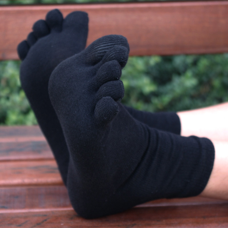 10pair/Lot Men Toe Socks Casual Ankle Socks Five Fingers Socks With Toes High Quality Free Shipping