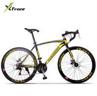 New X front brand 21/27 speed racing bike 700C*49cm steel frame bicycle alloy pedal cycling disc brake bicicleta road bike