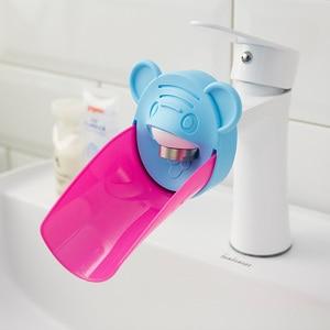 Image 3 - 浴室蛇口エクステンダー子供子供の手の洗浄デバイスエクステンダーシンクハンドル延長水タップ延長浴室付属品