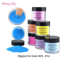 New Arrival Colors 28g/Box Dipping Powder Without Lamp Cure Nails Dip Powder Summer Gel Nail Color Powder Natural Dry