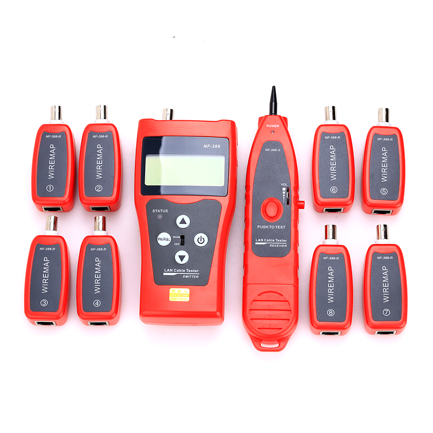 NF-388 Multipurpose Network Cable Tester Tracker Tracer with 8 Far-end RJ11 RJ45