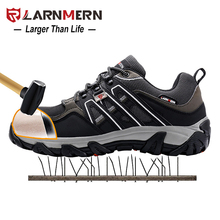 LARNMERN Outdoor Women Safety Anti-smashing Steel Toe Safety Shoes Female Puncture Proof Security Shoes Boots