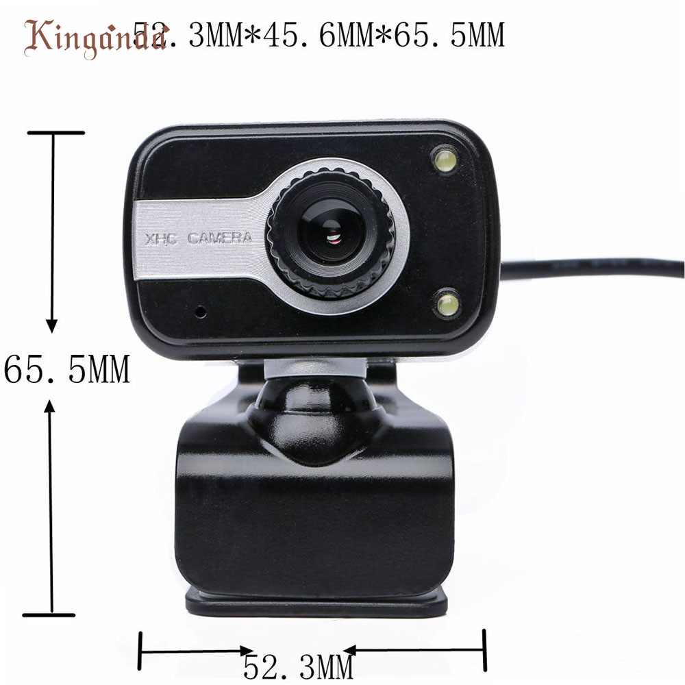 2 Led Usb 2.0 Hd Webcam Caméra Web Caméra Avec Microphone Micro Pour Pc Laptop_kxl0224