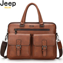 JEEP BULUO Famous Brand New Design Mens Briefcase Satchel Bags For Men Business Fashion Messenger Bag 14 Laptop Bag 8001
