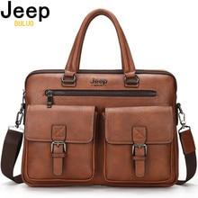 JEEP BULUO 남자를위한 유명한 브랜드의 새로운 디자인 남자 서류 가방 Satchel 가방 비즈니스 패션 메신저 가방 14 노트북 가방 8001