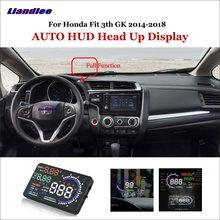 купить Liandlee Car Head Up Display HUD For Honda Fit 3th GK 2014-2018 Safe Driving Screen OBD II Speedometer Projector Windshield дешево
