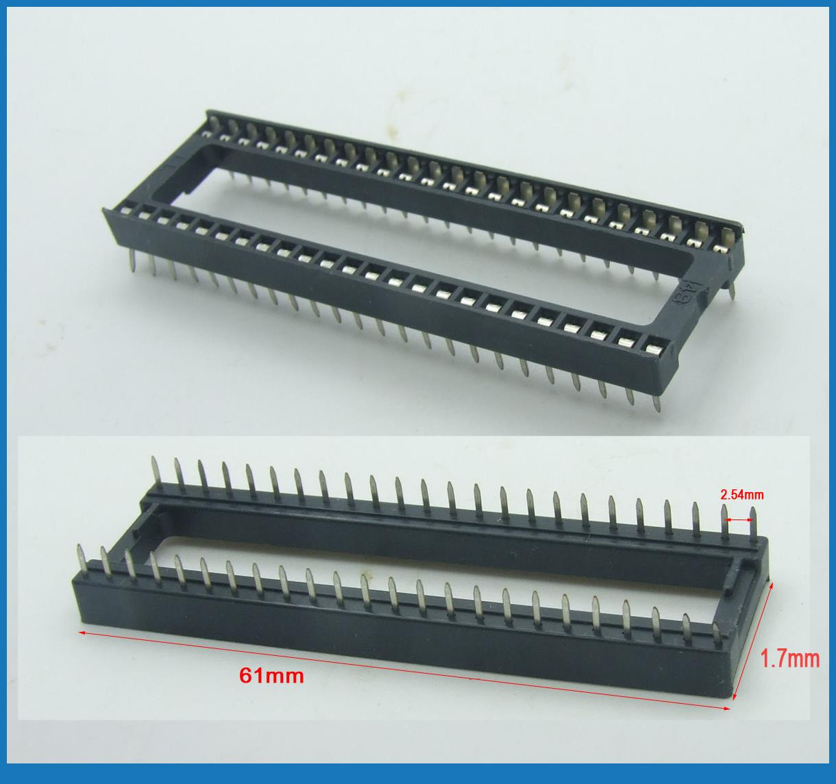 10PCS 48 pin IC Socket 2.54mm(.100) DIP adapter Row-To-Row spacing Adapters видеоигра бука saints row iv re elected