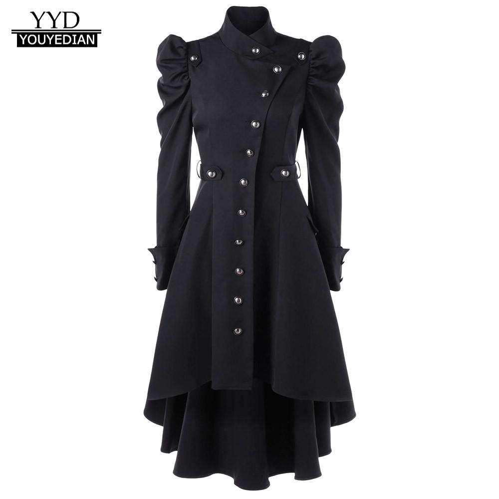 Coat Women 2019 Womens Vintage Steampunk Long Coat Gothic Overcoat Ladies Retro Jacket Luxury Brand Veste Femme Chaquetas Mujer