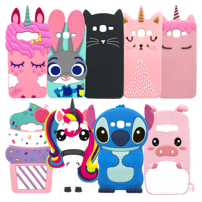 G530 G530H G531 G531H G531F 3D Cartoon Leuke Minnie Stitch Eenhoorn Soft Silicone Cover Case Voor Samsung Galaxy Grote prime