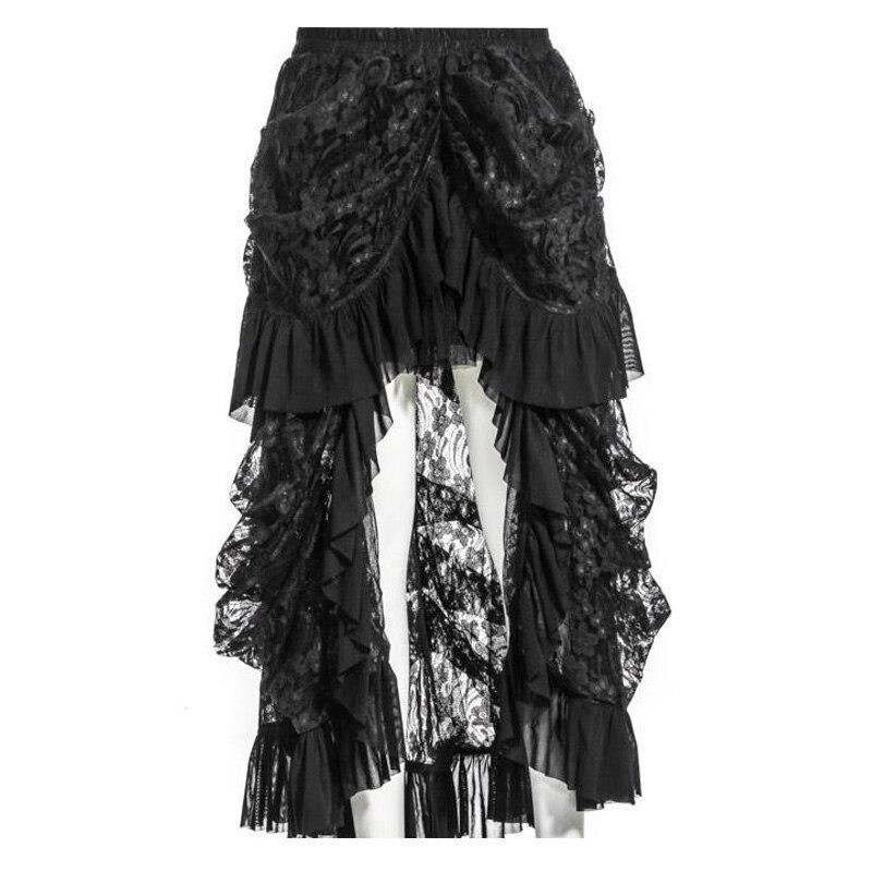 0a190f4fb83 Новый 2018 стимпанк стиль Для женщин элегантные юбки Готическая Лолита  вечерние кружевные длинные юбки женские jupe