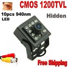 Night vision 1200 TVL CCTV security Camera CMOS Color Mini camera 10pcs 940nm led 3.6mm Lens Mini cctv camera security camera