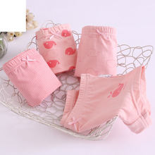 Teenage Girl Underwear Pink Whale Print Panties Cotton Striped Underpants for Children Baby Clothes 2t 3t 4t 8 12 14 Years