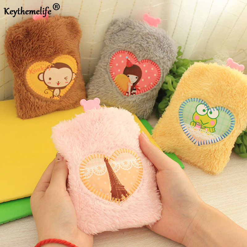 Keythemelife Mini Warm Water-filling Hot-water Bag Hot-Water Bottle Hand warmer Plush Removable Washable Hand Po F0 warm water bag hot water bottle warm hand po warm bao water filling small mini cute thick pvc explosion proof