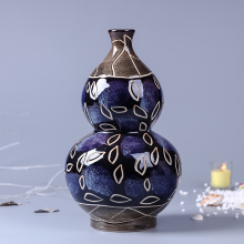 Vintage Ceramic Vase Home Decoration Carved Blue Vases Porcelain Vase Flower Decoration Adornment Furnishing Articles