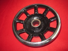 Old household sewing machine accessories HA – 1-124 the pedal the handwheel/pulley wheel on the old home