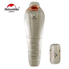 Sac de couchage momie naturel ultra-léger Camping en plein air sac de sommeil adulte avec sac de Compression chaud hiver-20 ~-10 degrés Celsius