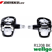 Wellgo pedals R-120B Free shipping high quality all kinds colors road bike pedal with pedals locking