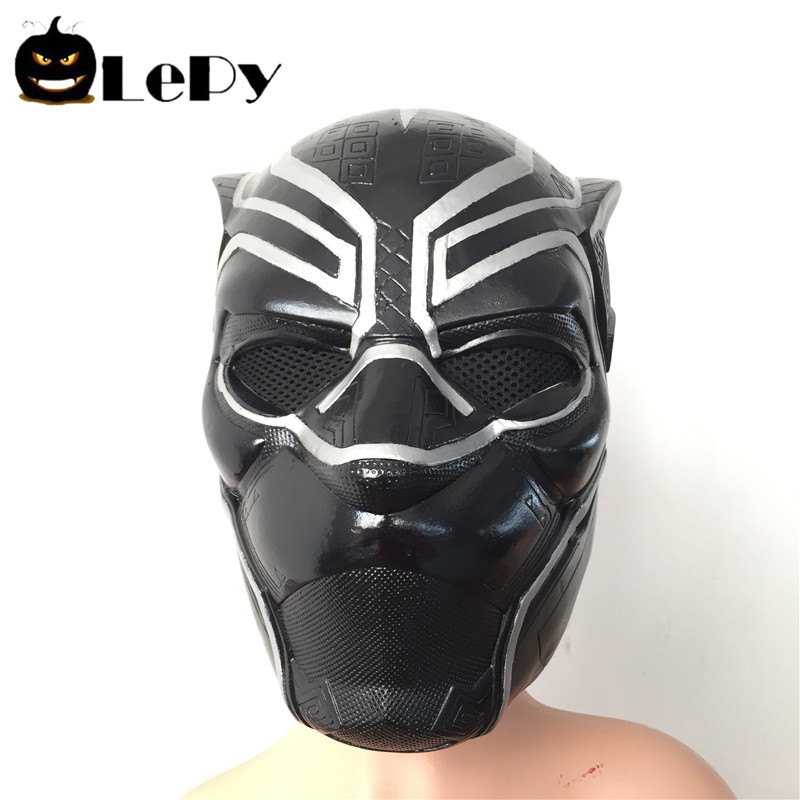 Black Panther Latex Mask Captain America Civil War Cosplay Adult Party Helmet