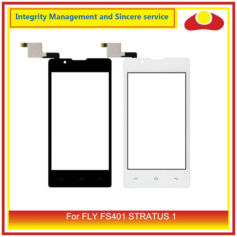 ORIGINAL For FLY FS401 STRATUS 1 Digitizer Touch Panel Screen Sensor Outer Glass Lens For Fly FS 401 Touchscreen