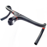 2015 Superlogic New Full Carbon Handlebar Road Bicycle Handlebar And Stem Carbon Fiber Integrated Handlebar With
