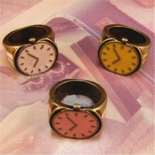 2019 New selling Korean New Design Fashion Jewelry Rings Vintage Candy Color Cute Watch Pattern Finger Ring Girls Best Gift(China)