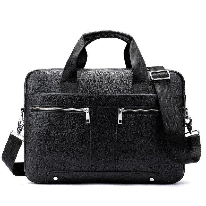 New Business Briefcases Man For Lawyer Genuine Leather Messenger Bag Men Shoulder Bags Leather Laptop Men's Briefcases