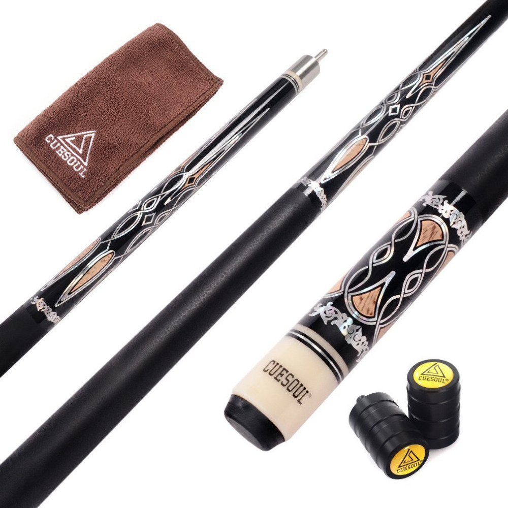 CUESOUL Billiard Pool Cue Stick With 13mm Cue Tip With Cue Clean Towel And Cue Jointed Protector