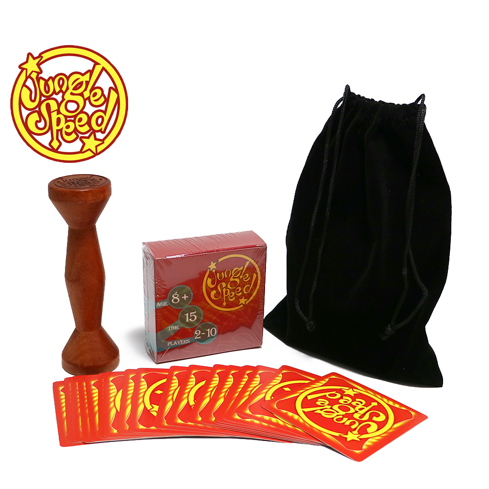 gold wood token jungle speed board game for party fun cards bohs 2 persons parent child board game family fun recreation
