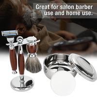 Men Beard Shaving Set Safety Brush Bowl Soap Stand