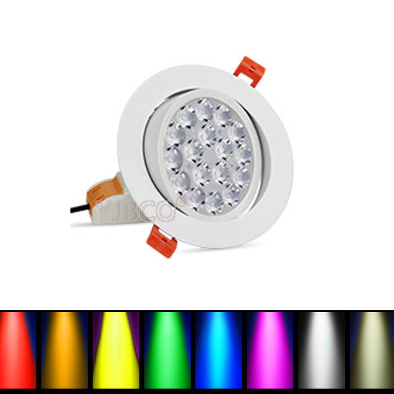 NEW FUT062 milight Round 9W RGB+CCT LED Ceiling Spotlight Dimmable  AC86-265V compatiable with wifi FUT089/FUT092/B8/B4/T4 remote