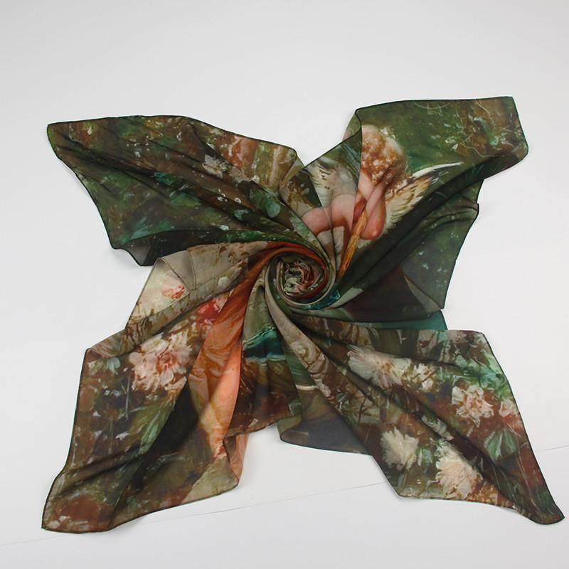 Holly Angel Painting Scarf | Silk Square Scarves