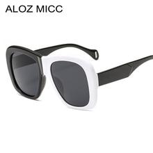 ALOZ MICC New Square Women Sunglasses 2019 Vintage Oversized Black White Frame Men Gradient Shade Eyeglasses Q552