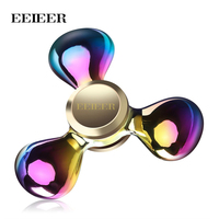 EEIEER New Version Fidget Spinner Toy Durable Stainless Steel Bearing High Speed 3 6 Min Tri