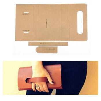 1set DIY Leather Handmade Craft women handbag wallet Purse Sewing Pattern Hard Kraft paper Stencil Template 220x120x25mm