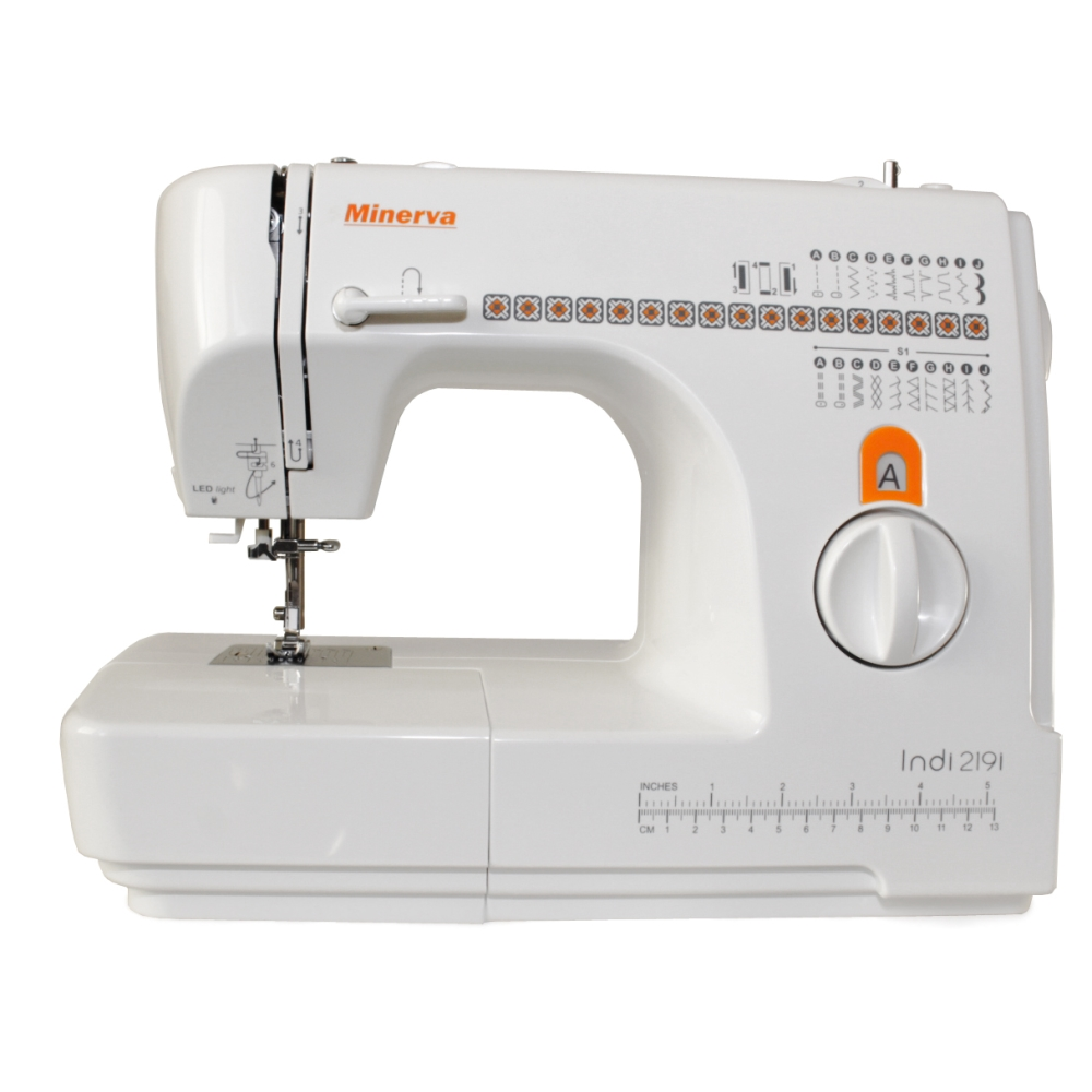 Sewing machine Minerva Indi 219i (19 operations, sewing speed 800 rev/min, backlight) sewing machine janome jq 2515s