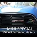 Car Styling 3D Metal Car Front Grille Emblem Badge For JOHN COOPER WORKS MINI COOPER Countryman R50 R52 R53 R55 R56 R57 R58 R59