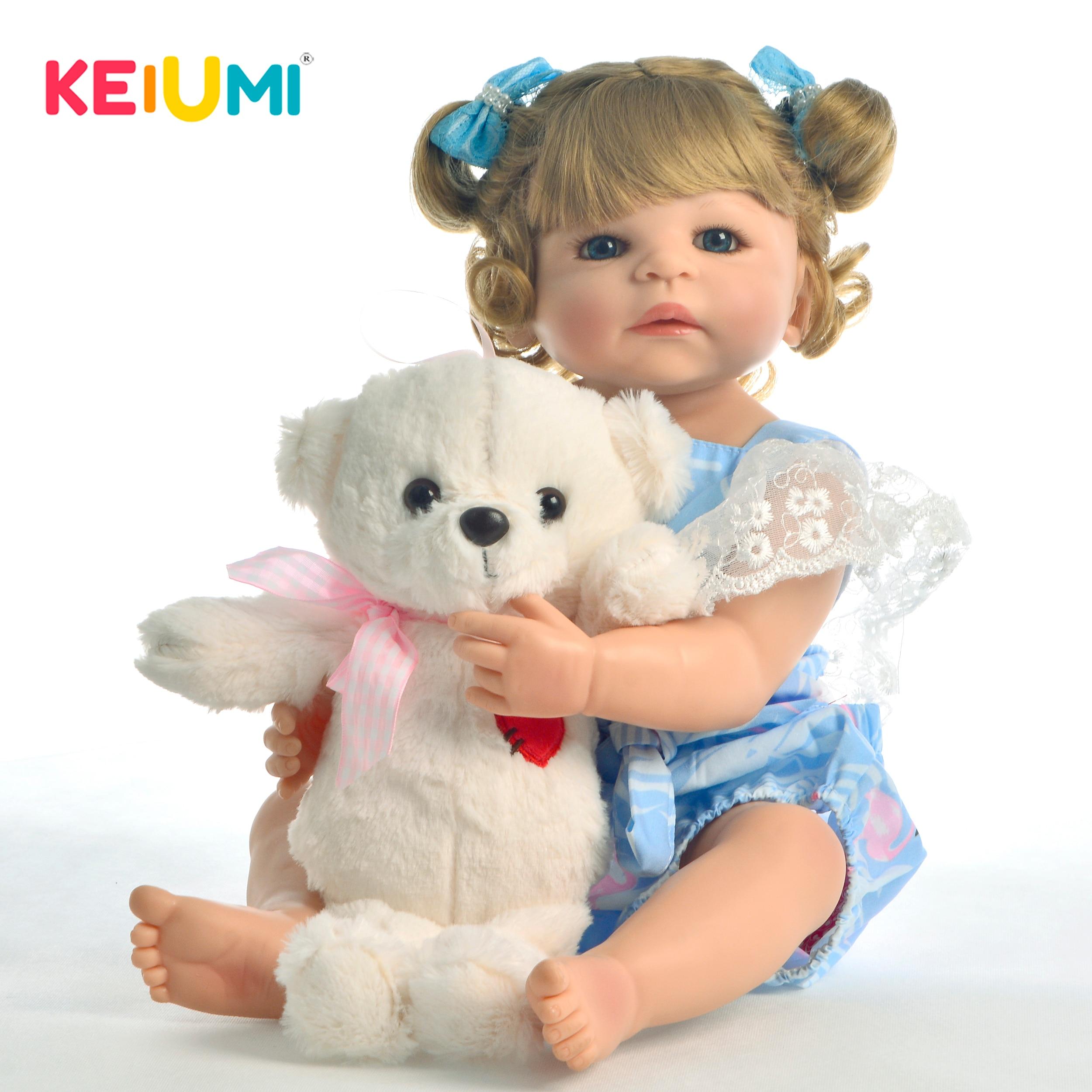New Style 22 55cm Silicone Full Body Reborn Dolls Lifelike Princess Newborn Girl Babies Doll With
