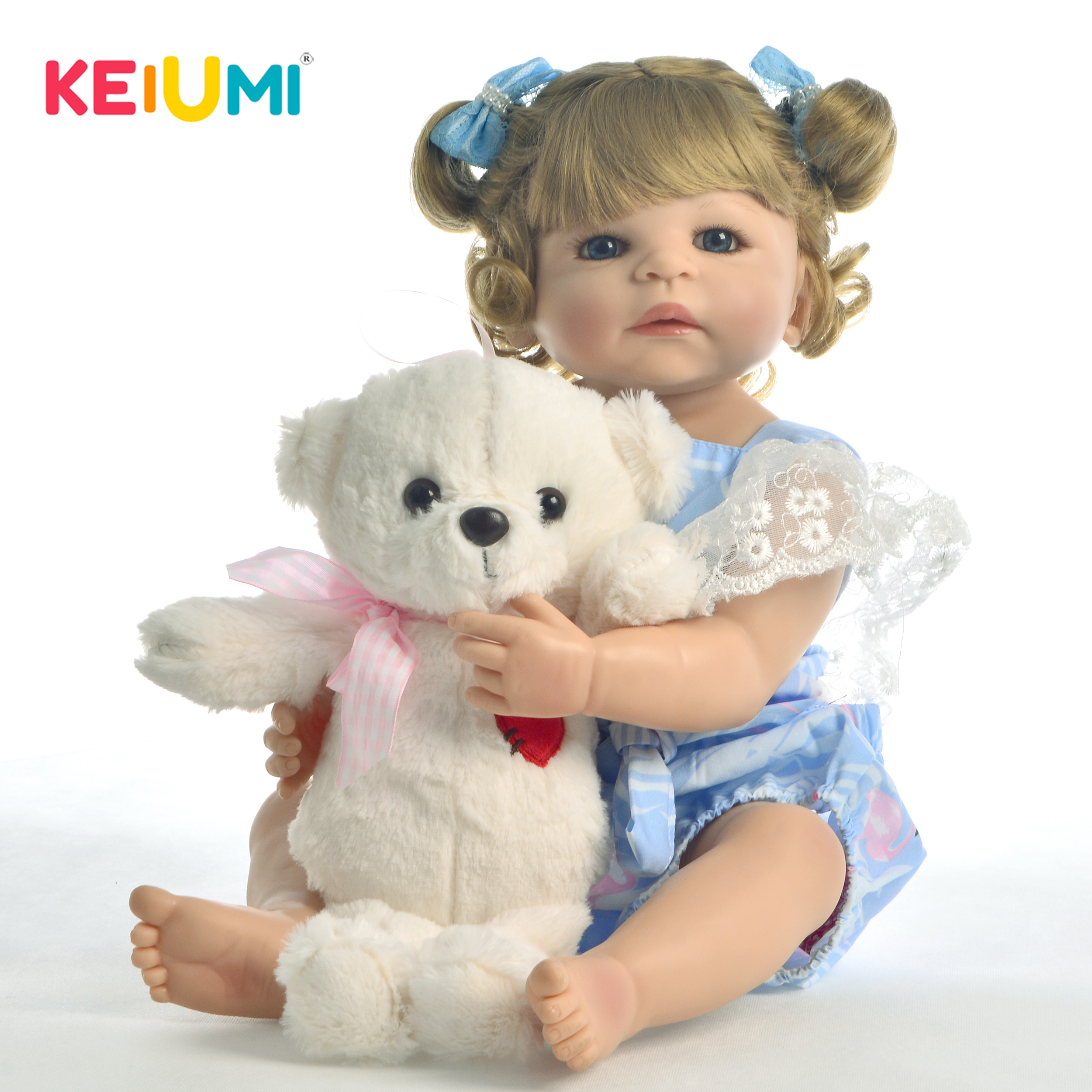 New Style 22 55cm Silicone Full Body Reborn Dolls Lifelike Princess Newborn Girl Babies Doll With Bear Toy Kids Birthday GiftNew Style 22 55cm Silicone Full Body Reborn Dolls Lifelike Princess Newborn Girl Babies Doll With Bear Toy Kids Birthday Gift