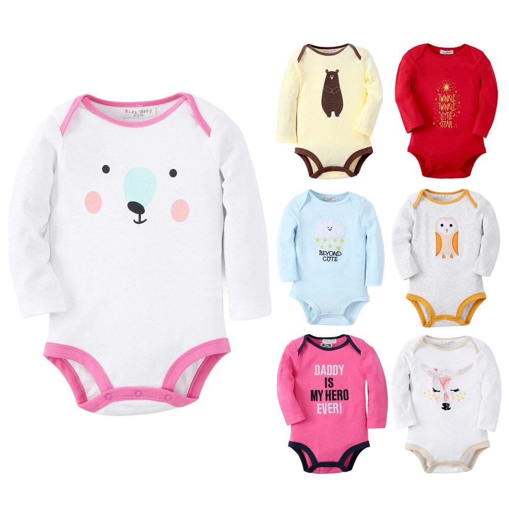 Új 6 minta Baby Girls Romper Cartoon újszülött jumpsuit baba - Bébi ruházat