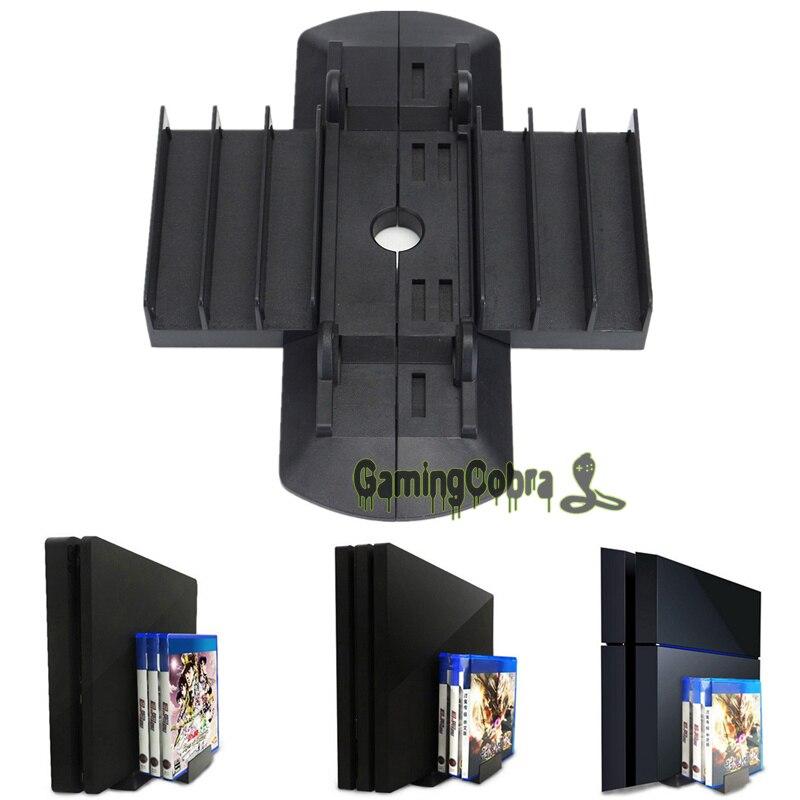 Black Vertical Stand Holder Mount Cradle Dock For Playstation 4 Slim Pro PS4 New