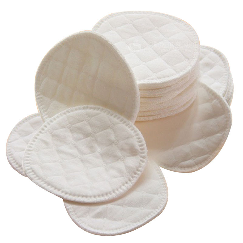12Pcs/set 3 Layers Cotton Reusable Breast Pads Nursing Waterproof Organic Plain Washable Pad Baby Breastfeeding Accessory