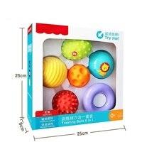 6 Balls Set Baby Toys Children Training Balls Hand Baby Touch Ball Soft Massage Balls Toys Boys Girls Birthday Gifts