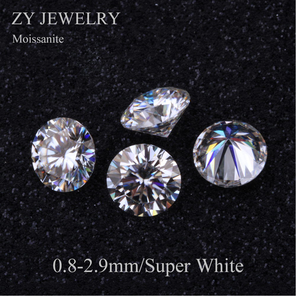 High Quality Super White Moissanites 0.8-2.9mm 1carat/pack Small Size Lab Created MoissanitesHigh Quality Super White Moissanites 0.8-2.9mm 1carat/pack Small Size Lab Created Moissanites