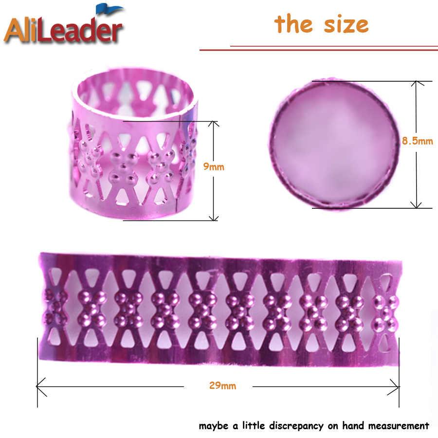 Alileader волос бисер Регулируемая волос кольца дреды аксессуары для волос цвета: золотистый, серебристый страх шарики для наращивания волос 100 шт./упак.